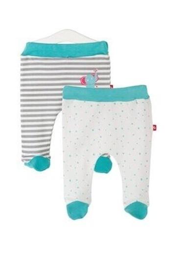 Fisher Price Fisher Price Fil 2'Li Patikli Çizgili Puantiyeli Pamuk Renkli Pantolon Renkli